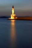 Faro en Chania Imagenes de archivo