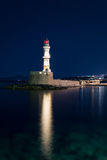 Faro en Chania, Creta, Grecia Fotografía de archivo libre de regalías