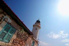 Faro en Chipre Foto de archivo libre de regalías