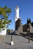 Faro en Colonia foto de archivo
