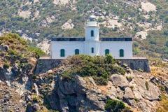 Faro en el acantilado Fotografía de archivo libre de regalías