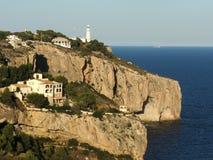 Faro en el clif Imagen de archivo