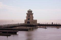 Faro en el Golfo de México Foto de archivo