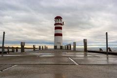 Faro en el lago Neusiedl Fotografía de archivo libre de regalías
