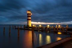Faro en el lago Neusiedl Fotos de archivo libres de regalías