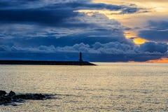 Faro en el mar Imagen de archivo libre de regalías