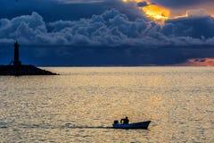 Faro en el mar Fotos de archivo
