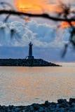 Faro en el mar Fotografía de archivo libre de regalías