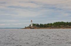 Faro en el mar Báltico Imágenes de archivo libres de regalías