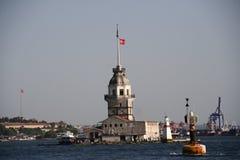 Faro en el mar, Istambul Imágenes de archivo libres de regalías