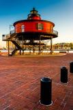 Faro en el puerto interno, Baltimore, Maria de la loma de siete pies foto de archivo