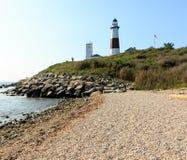 Faro en el punto de Montauk Imagen de archivo