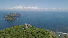Faro en engano del cabo Filipinas, isla de Palau Imagen de archivo libre de regalías