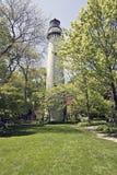 Faro en Evanston fotografía de archivo