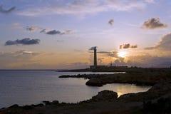 Faro en Favignana, Sicilia Fotografía de archivo