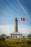 Faro en Grenen cerca de Skagen Dinamarca en 2017 Fotografía de archivo