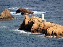 Faro en Illes Formigues Foto de archivo libre de regalías
