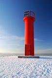 Faro en invierno Imágenes de archivo libres de regalías