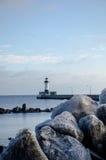 Faro en invierno Imagen de archivo