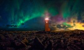 Faro en Islandia imagen de archivo