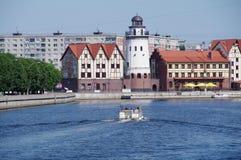 Faro en Kaliningrad (Koenigsberg) Imágenes de archivo libres de regalías