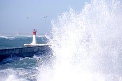 Faro en Kalkbay, Ciudad del Cabo fotografía de archivo