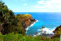 Faro en Kauai Imagenes de archivo