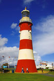 Faro en la ciudad vital de Plymouth, Inglaterra Fotografía de archivo libre de regalías
