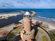 Faro en la costa báltica imagen de archivo libre de regalías