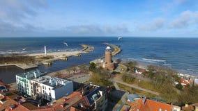 Faro en la costa báltica metrajes