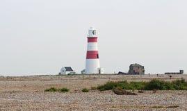 Faro en la costa de Mar del Norte en Suffolk Imagen de archivo