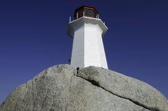 Faro en la ensenada de Peggy, Nueva Escocia Foto de archivo