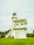 Faro en la isla de la isla de Tiritiri Matangi cerca de Auckland, nuevo Zeland Imagenes de archivo