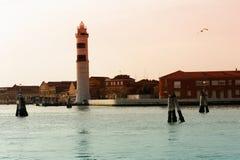 Faro en la isla de Murano, Venecia, Italia fotografía de archivo
