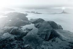 Faro en la noche Fotografía de archivo libre de regalías