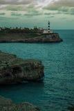 Faro en la oscuridad Imagenes de archivo