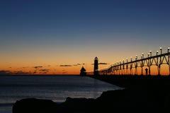 Faro en la oscuridad Foto de archivo libre de regalías
