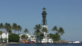 Faro en la playa la Florida de Deerfield almacen de video