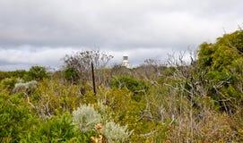 Faro en la tormenta Fotografía de archivo libre de regalías