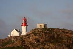 Faro en Lindesnes Imagenes de archivo