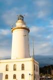 Faro en Málaga en Andalucía, España Imagen de archivo libre de regalías