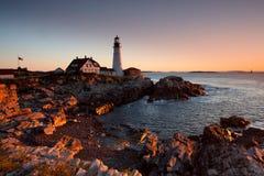 Faro en Maine Imagen de archivo
