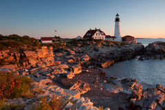 Faro en Maine Foto de archivo
