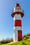 Faro en Niebla, Valdivia, Chile Foto de archivo libre de regalías