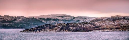 Faro en Noruega Fotografía de archivo