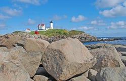 Faro en Nueva Inglaterra Imagen de archivo libre de regalías