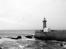 Faro en Oporto Foto de archivo libre de regalías
