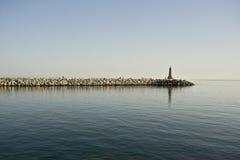 Faro en Puerto Banus Imágenes de archivo libres de regalías