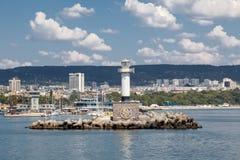 Faro en Varna, Bulgaria Fotografía de archivo libre de regalías
