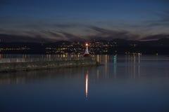 Faro en Victoria A.C. Canadá Fotos de archivo
